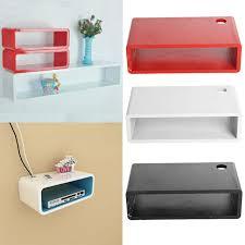 cm floating mdf wall mount shelf cube
