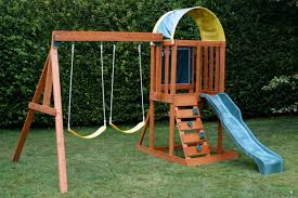 gallery of small backyard swing sets