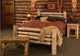 Log Bedroom Furniture Cedar Log Bed Kits Rustic Furniture Mall By Timber Creek