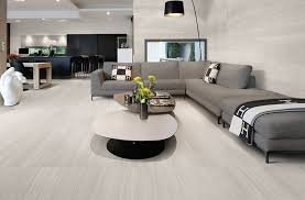 Modern living room idea with light grey tiles from Ceramiche Provenza's evo- Q collection.