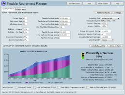 Free Retirement Calculator The Flexible Retirement Planner A Financial Planning Tool Powered