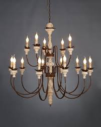 light duo layer vintage industrial chandelier with candle