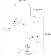 Bar Stool Size Chart Bar Stool Size Hectordager