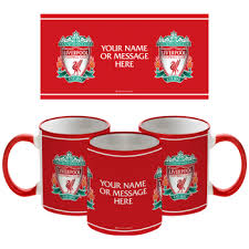 liverpool fc personalised crest mug