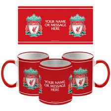 liverpool fc personalised crest mug