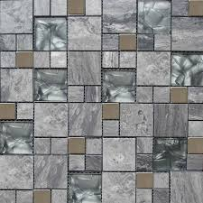 glasarble grey colour mosaic tile