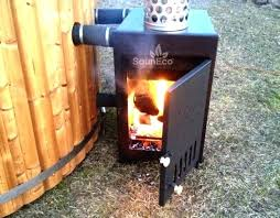wood fire hot tub external stove made of high quality marine aluminum cedar fired burning diy