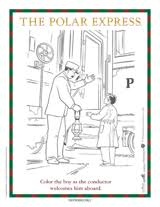 The Polar Express Conductor Coloring Page Printable Teachervision