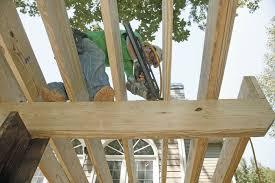Dimensional Lumber Span Chart Deck How Far Can A Deck Beam Span Fine Homebuilding