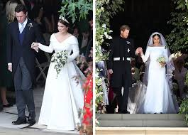 Meghan markle had to do a lot of adjusting very quickly when she joined the royal family. Princess Eugenie Vs Meghan Markle Wedding Dress Purewow