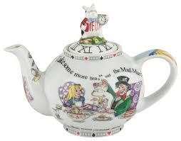 alice in wonderland white rabbit teapot