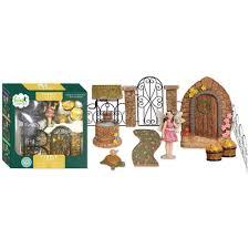 arcadia garden products pebble lane polyresin fairy garden kit 11 piece