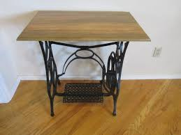 side table for hallway. SEWING Machine TABLE - Rarer Than Singer Antique Table Hallway Table- Natural Finish Entry Way Side Treadle For