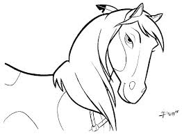 Spirit Horse Coloring Pages Printable Horses Clydesdale Book Page Of