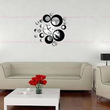 home decor wall clock double color new home decoration wall clock stickers decal with wall art home decor wall clock