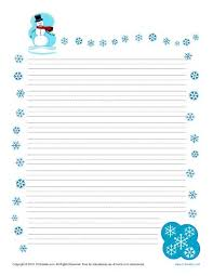 Free Writing Paper Winter Printable Lined Writing Paper