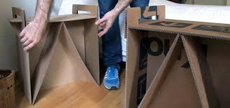 how to make cardboard furniture. How To: Turn Leftover Cardboard Boxes Into Sturdy Chairs And Stylish Nightstands To Make Furniture