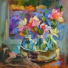 Pin by Priscilla Hopkins on flower vases | Bright art, Original art  painting, Painting