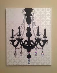 chandelier canvas wall art new chandelier 16 20 acrylic on canvas pop art black by