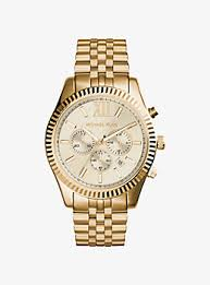 watches for men gold silver tone leather smartwatches lexington gold tone watch