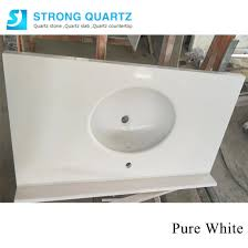 polished engineering white quartz stone slabs countertops factory
