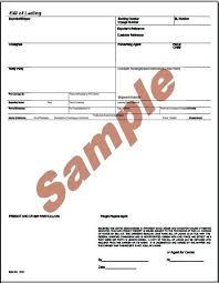 Bill Of Lading Free Form Transportation Bill Of Lading Form Bill Of Lading Forms