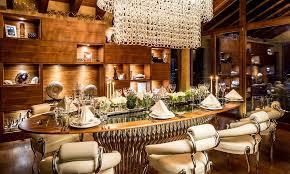 luxury round dining table six star chalet switzerland image