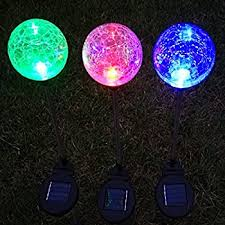 decorative solar lighting. solar lightsoutdoor garden path light crackle glass globe stakes sogrand 3 color led decorative lighting