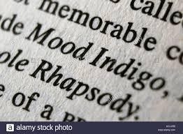 "Image result for ""Mood Indigo."" word"