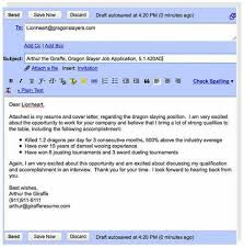 email resume letters