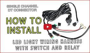 eyourlife 12v 40a off road led light bar on off power switch relay eyourlife 12v 40a off road led light bar on off power switch relay wiring harness installation