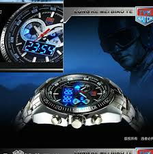 2016 stainless steel black men s military blue binary led pointer 2016 stainless steel black men s military blue binary led pointer watch mens 3am waterproof sports watches