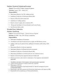 Electrician Job Description Maintenance Electrician Job Description Hola Klonec Co