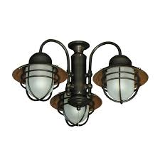 outdoor ceiling fans with lights. 362 Nautical Styled Outdoor Ceiling Fan Light Kit 3 Finish Lighted Fans With Lights