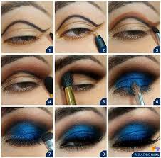 deep blue eye shadow tutorial