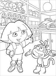 19 Dora Coloring Pages Pdf Png Jpeg Eps Free Premium Templates