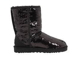 As the most famous boots, the womens UGG Classic Short Sparkles 3161 Black  is a