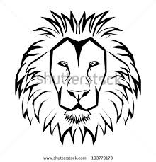 Small Picture of Lion Outline Drawing Lion Coloring Pages Printable Lion Face