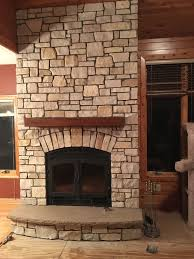 fireplace accessories white brick stone surround black metal and see through glass frame prefabricated