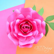 Rose Flower With Paper Mini Alora Rose Small Paper Flower Rose Template Catching Colorflies
