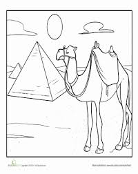 Small Picture Camel Coloring Page Camels Worksheets and Book fairs