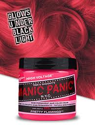 Manic Panic Hair Color Chart Manic Panic Pretty Flamingo Pink Hair Color Cream Classic High Voltage Semi Permanent Hair Dye Vivid Pink Shade For Dark Light Hair Vegan