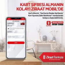 """Ziraat Bankası - Kart şifresi almanın kolayı Ziraat Mobil'de Kart  şifrenizi, """"Kartlarım/Banka Kartlarım/Kart Ayarları/Şifre Belirleme""""  menüsünden kolayca oluşturabilirsiniz. Ziraat Mobil'i indirmek için:  http://ow.ly/Hk6p30rb9L3 #ZiraatBankası ..."""