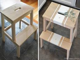 Spruced up step stool: IKEA Bekvam via @Anna Dormer Volgsten Chic
