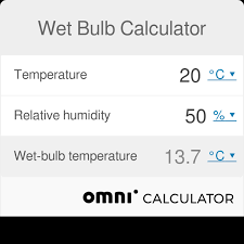 Relative Humidity Calculator Chart Wet Bulb Calculator Omni