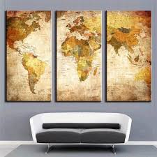 diy art oil wall picture 3 panel modern canvas prints painting home decoration world map 3 on diy map panel wall art with diy art oil wall picture 3 panel modern canvas prints painting home