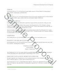 Janitorial Schedule Template Cleaning Proposal Letter Design