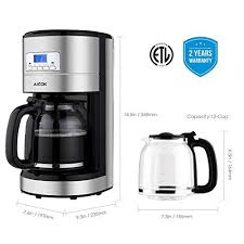We'll review the issue and make a decision about a partial or a full refund. Coffee Maker Aicok 12 Cup Programmable Coffee Maker Coffee Maker K Cup Drip Coffee Maker 24 Hours Programma Coffee Pot Coffee Maker Coffee Maker With Timer