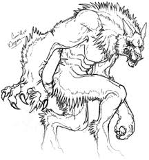 Small Picture Halloween Werewolf Coloring Pages 25566 Bestofcoloringcom