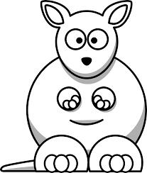 simple kangaroo face drawing google search feutrine broderie